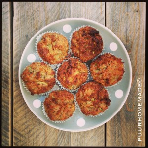 courgette-hazelnoot muffins