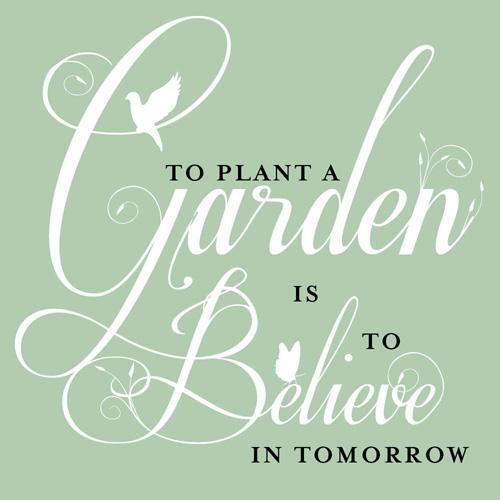 Maandagochtendspreuk 1: To plant a garden