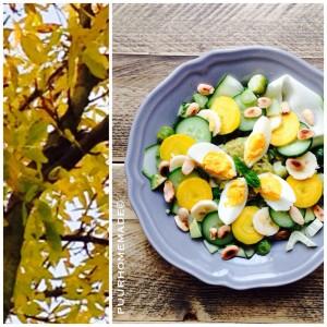 Groene herfst-salade