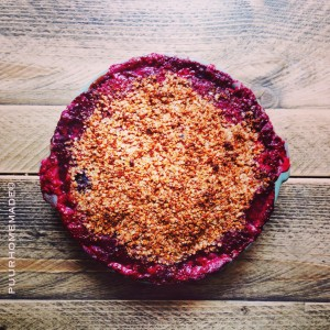 Crumble met vers fruit