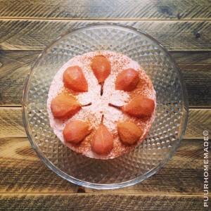 cheesecake met stoofperen