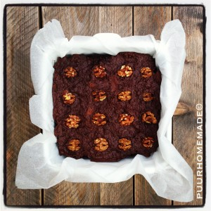Brownie courgette-walnoot 2 - Puur Homemade