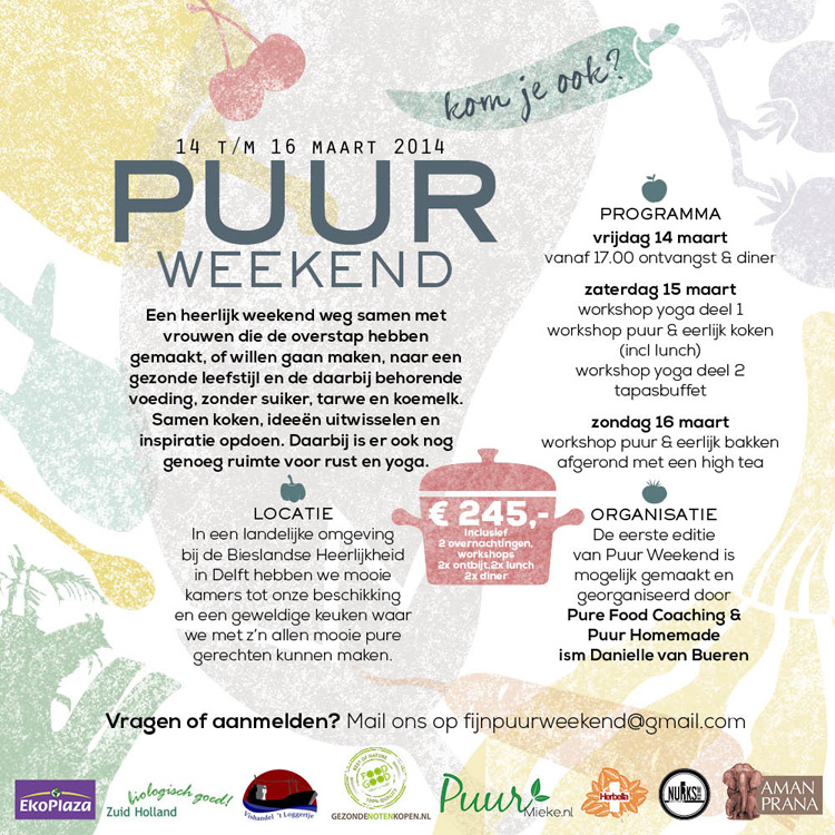 FLYER PUUR WEEKEND -Puur Homemade
