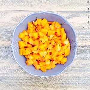 Gekruide Pompoenblokjes uit de oven -Puur Homemade