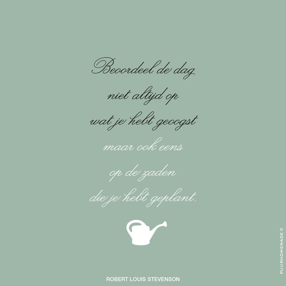 Beoordeel de dag niet altijd - Puur Homemade