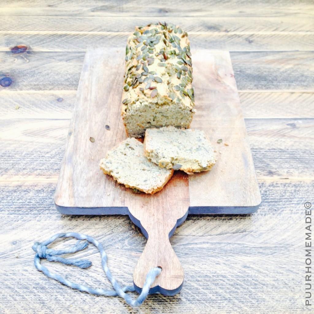 Boekweit-kikkererwtenbrood met pompoenpitten 2- Puur Homemade