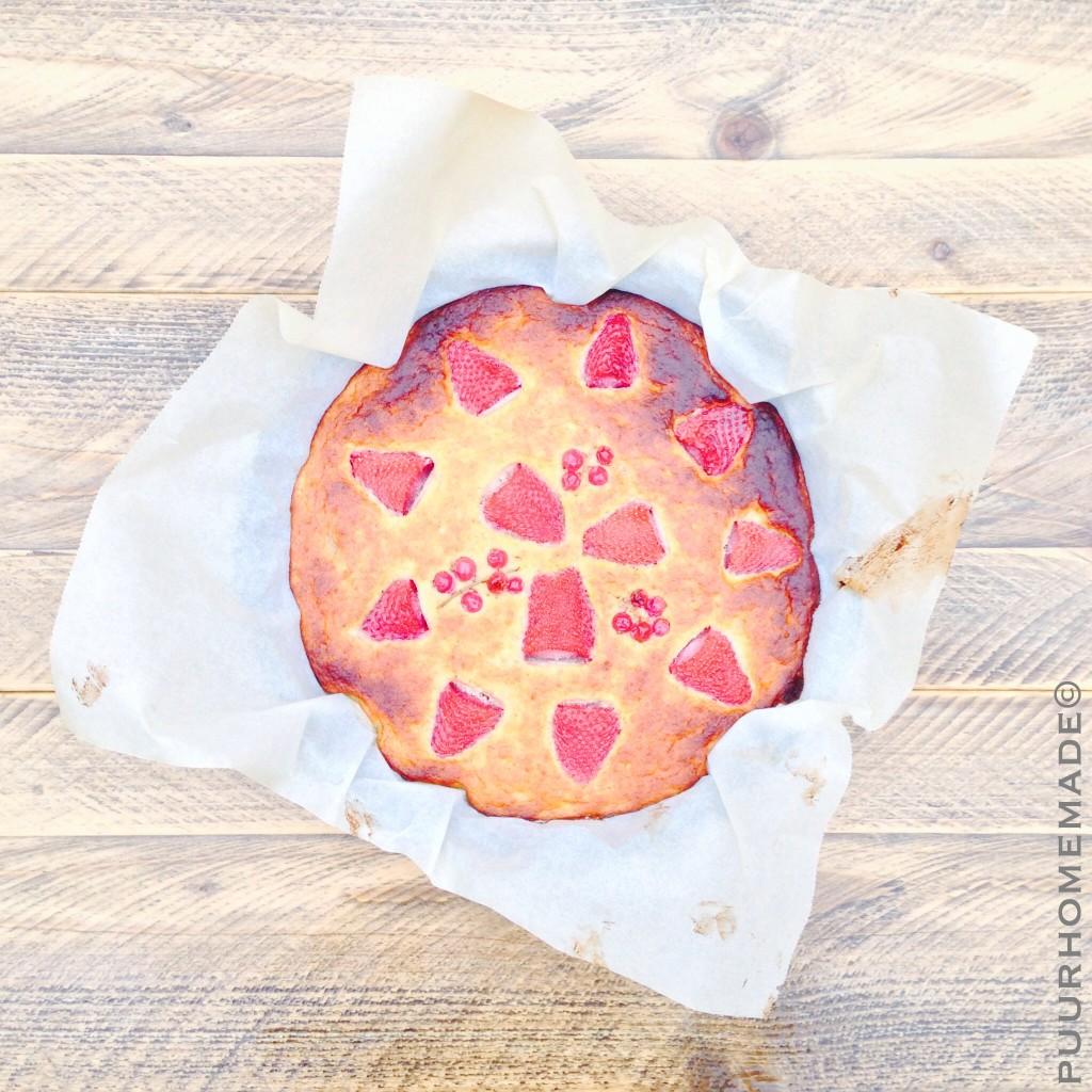 Clafoutis aardbei-rode bes - Puur Homemade